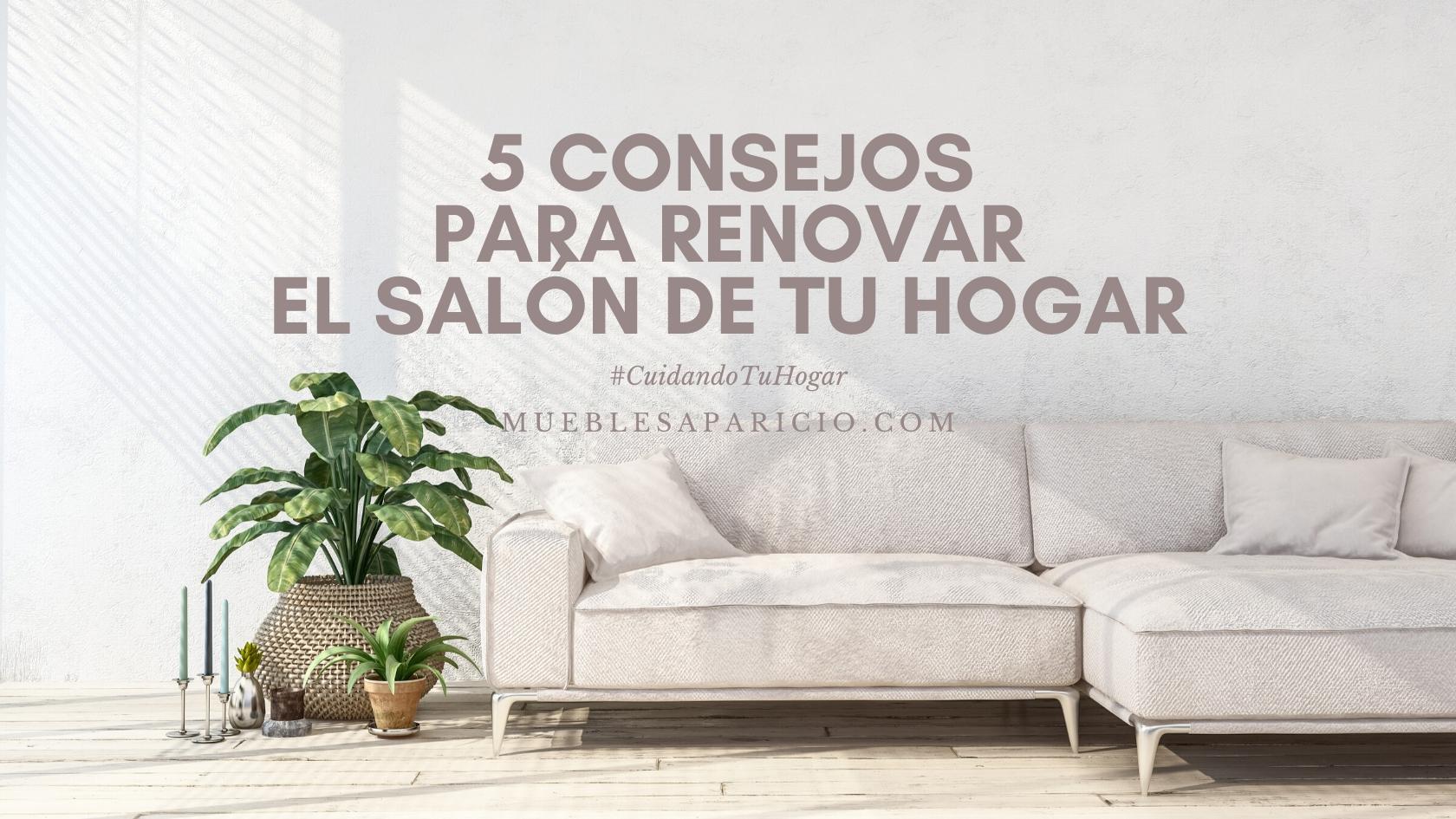consejos para renovar el salón