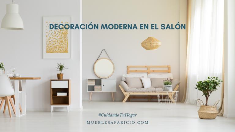 decoración moderna en el salón