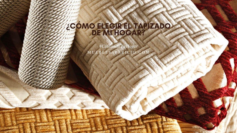 elegir el tapizado del hogar