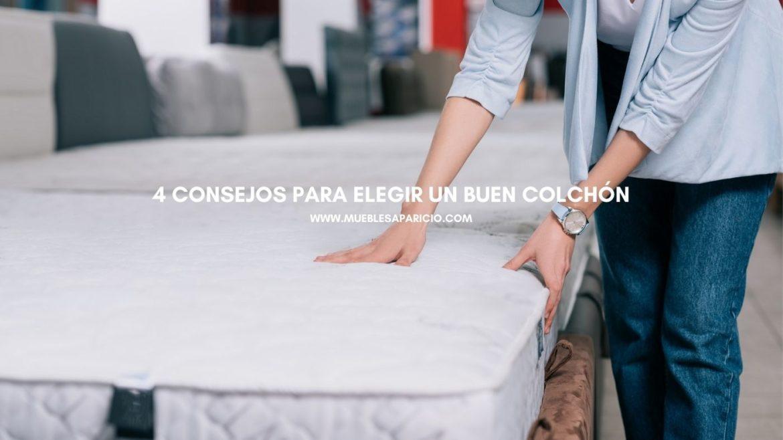cuatro consejos para elegir un buen colchón