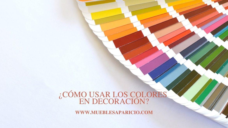 cómo usar los colores en decoración